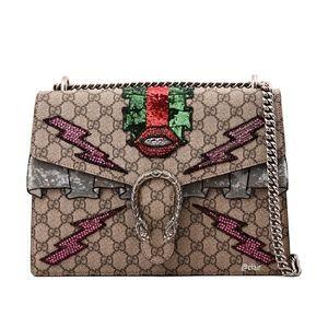 New Gucci Dionysus Medium Embellished Shoulder Bag